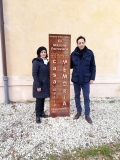Roberto Giordano e Federica Aiello presso la Casa della Memoria in Servigliano