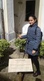 9 mazro 2019 - Greta Giordano e l'albero in Memoria di Irena Sendler