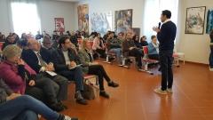 Roberto Giordano durante la presentazione del libro presso il Museo Palatucci in Capagna (SA)
